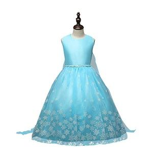 Other - Snow Queen Dress Sleeveless Snow Princess Blue